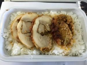 成田からセブの機内食