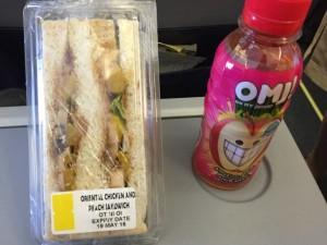 セブから成田の機内食