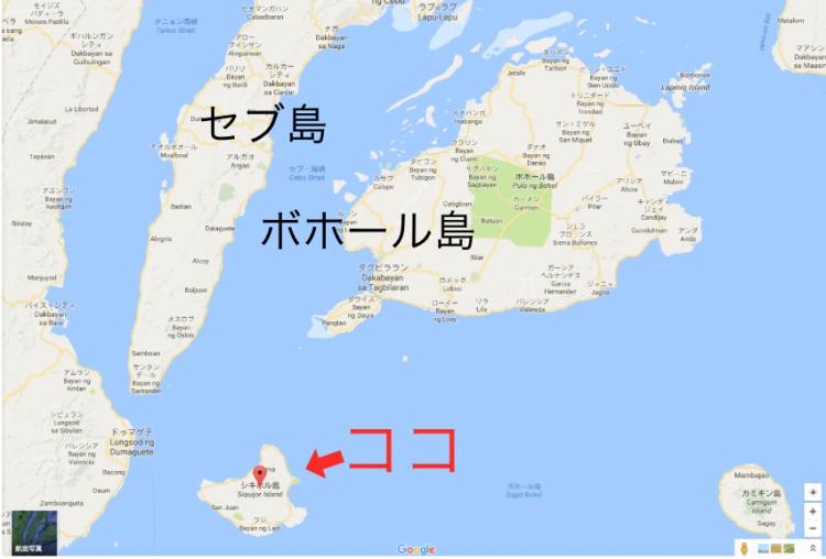 シキホール島の位置
