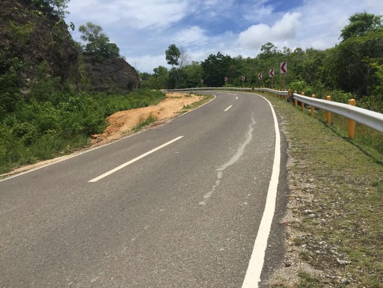 道路が舗装されている