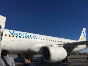 セブ島のバニラエアの機体