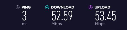 Wi-Fi光回線速度チェック:朝