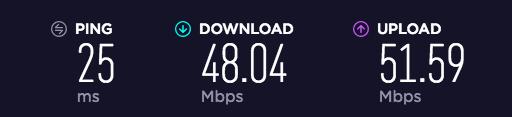 Wi-Fi光回線速度チェック:昼