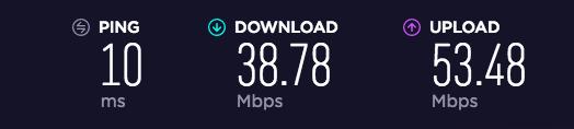 Wi-Fi光回線速度チェック:夜