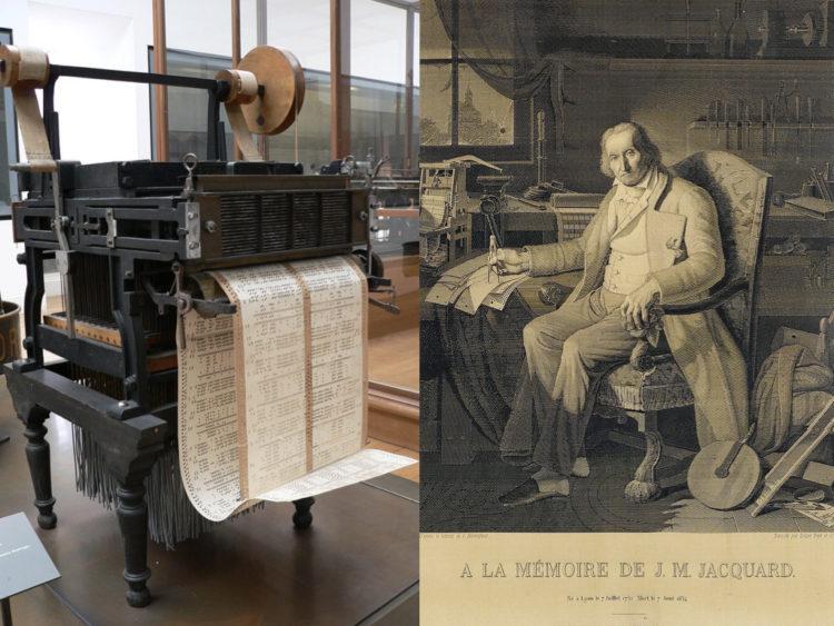 ジャカード織機と発明家ジョゼフ・マリー・ジャカール