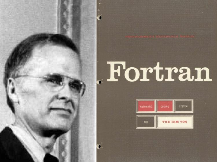 ジョン・バッカスとFortranのロゴ