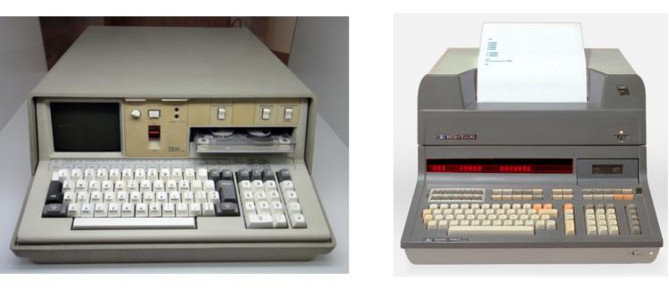 BM 5100(左)とIBM UNIVAC120(右)